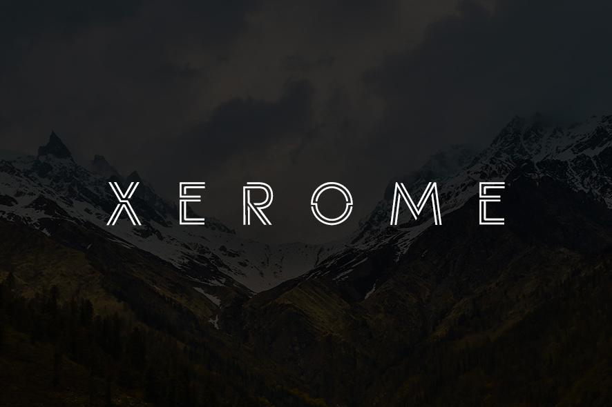 Xerome line现代科技无衬线logo英文字体下载
