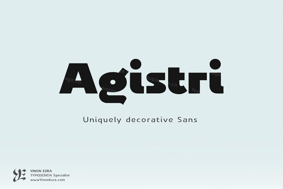 YEAgistri现代简洁logo排版标题英文字体下载