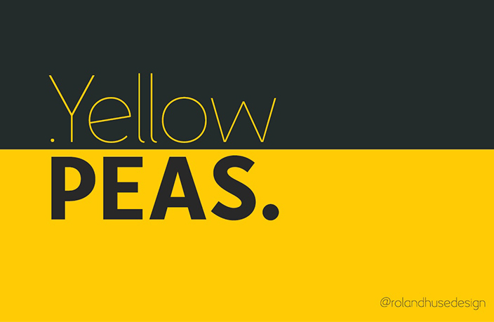 Yellow Peas极细简洁logo家族ps英文字体下载