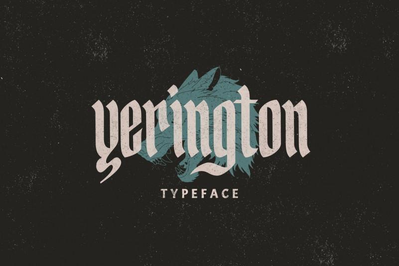 Yerington哥特个性复古英文字体下载
