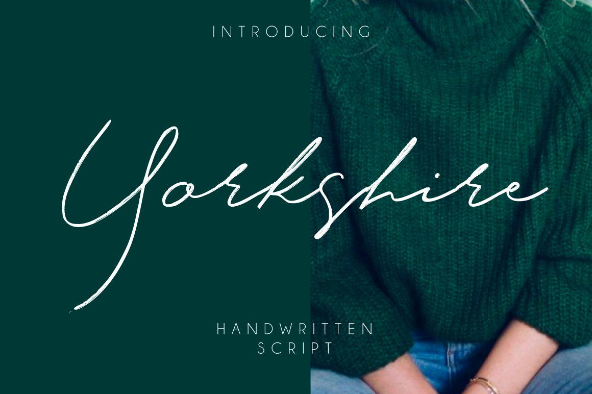 Yorkshire电商网站个性海报手写连笔英文字体下载