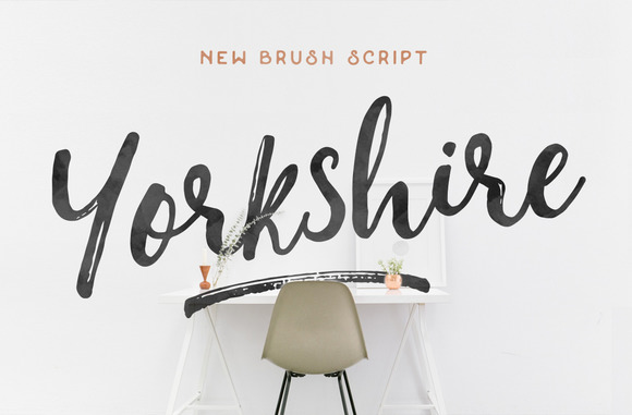 YorkshireBrush时尚手写英文字体下载