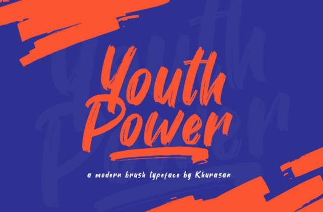 Youth Power手写笔刷笔触英文字体下载