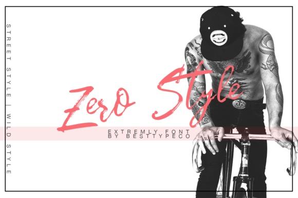 Zero Style笔刷毛笔笔触英文字体下载