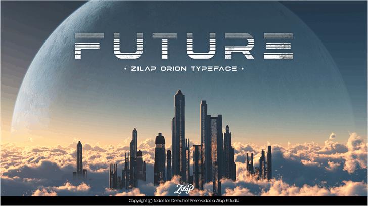 ZilapOrion创意未来肌理logo英文字体下载