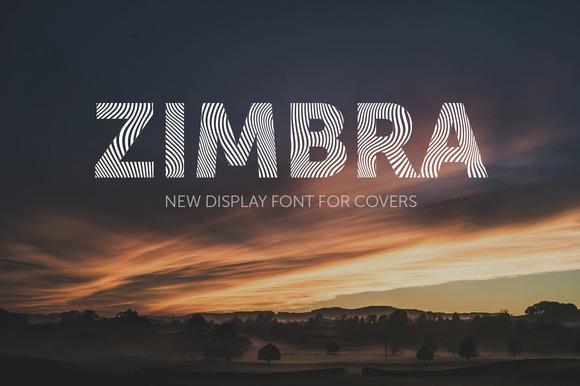 Zimbra Bold 现代线条英文字体下载