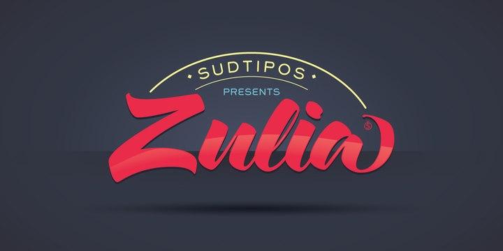 ZulPro大气海报手写连笔logo英文字体下载