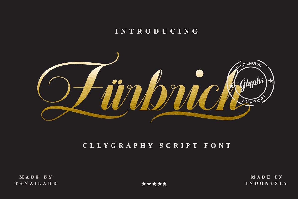 Zurbrich花体连笔奢侈品排版设计英文字体下载