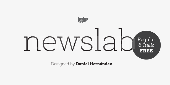 Newslab-Family时尚简约海报现代字体