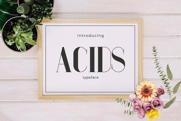acids时尚装饰画衬线英文字体下载