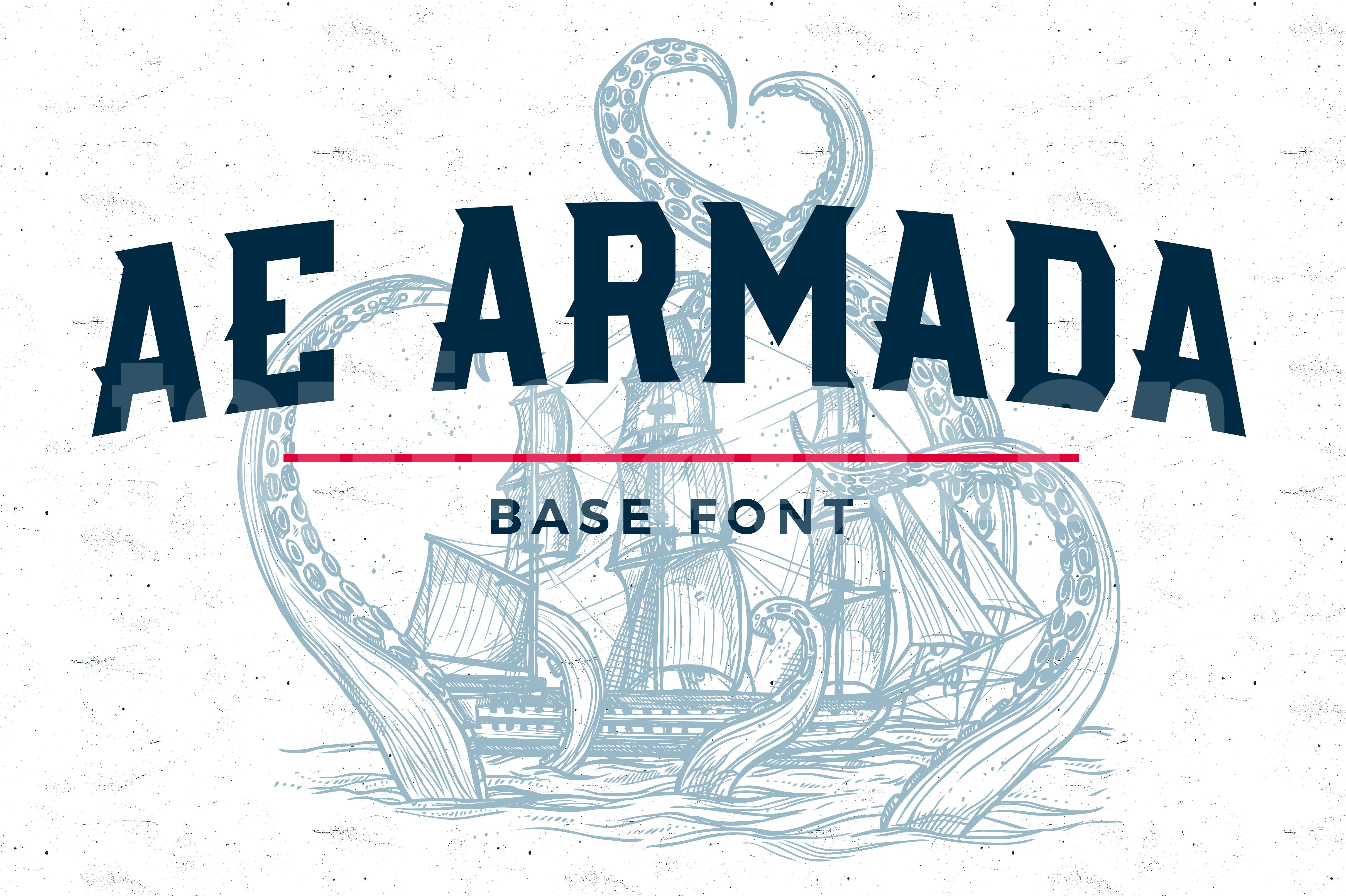 AE-Armada-Base复古个性艺术英文字体下载