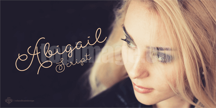 Abigail手写连笔纤细飘逸海报英文艺术字体下载