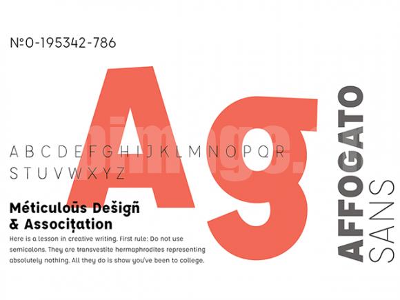 Affogato简洁纤细极细英文大气字体下载