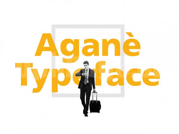 agane简洁纤细logo英文字体下载