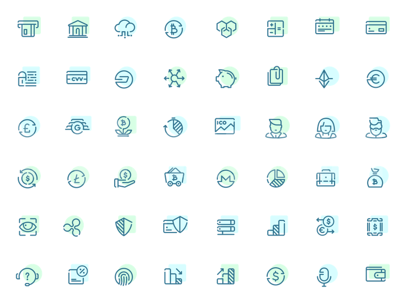 金融企业办公商务类icon图标下载