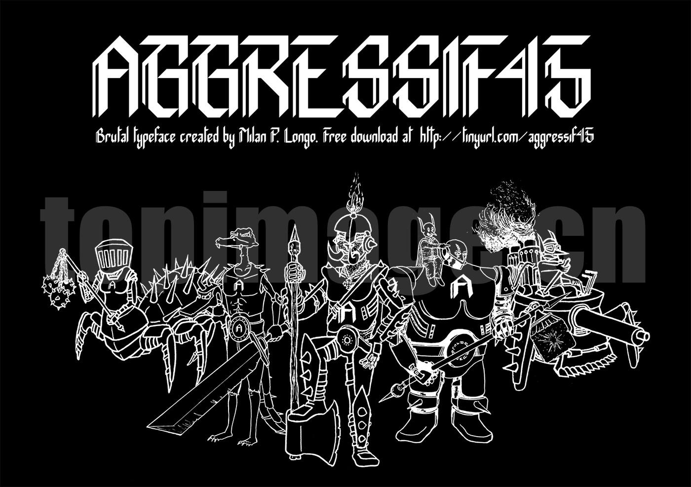 AGGRESSIF45复古罗马个性哥特艺术英文字体下载