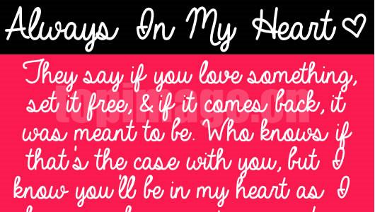 always_in_my_heart手写连笔签名英文字体下载