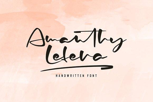 amanthylefera手写手绘书法签名英文字体下载