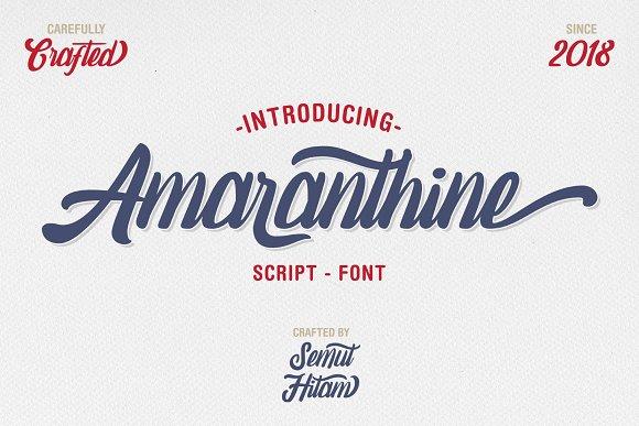 amaranthine手写手绘连笔时尚艺术logo英文字体下载