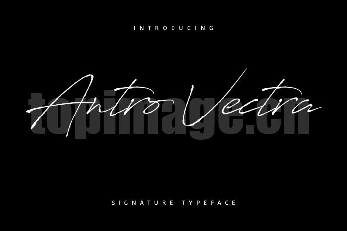 antro-vectra手写线条极细个性签名英文连笔飘逸字体下载