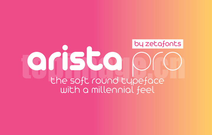 arista-pro纤细简洁圆润英文字体下载