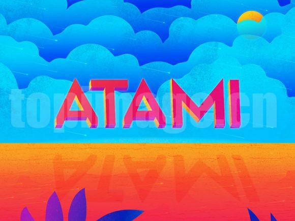 atami英文字体下载3d立体风格