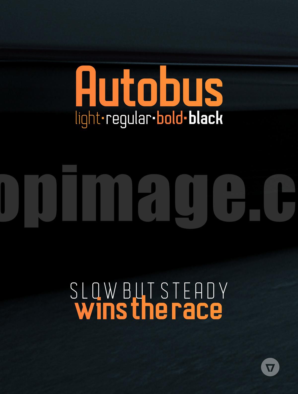 Autobus现代简洁适合logo英文字体下载