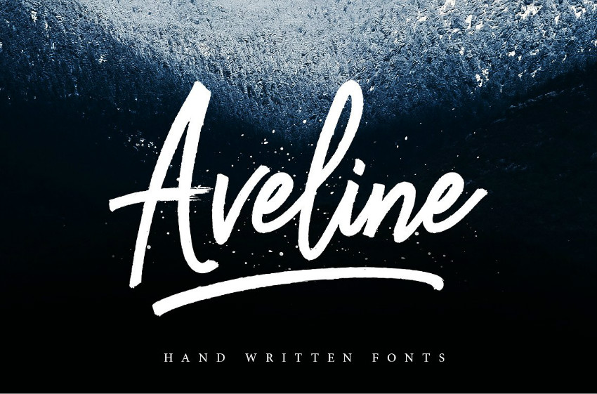 aveline手写连笔英文字体下载