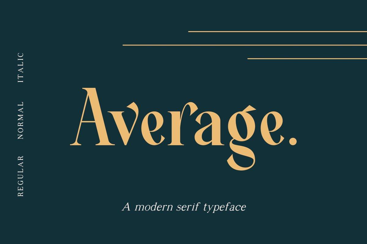 Average衬线设计经典现代英文字体下载