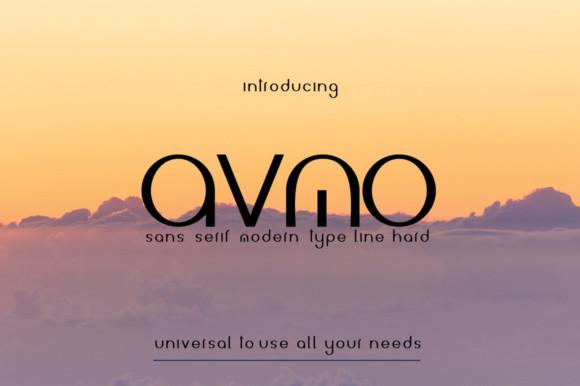 avmo现代无衬线简洁logo英文字体下载