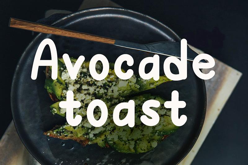 avocado_toast 手写卡通英文字体下载