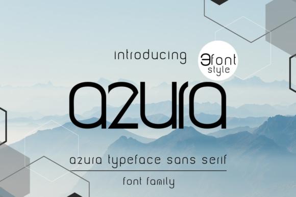 azura现代logo个性英文字体下载