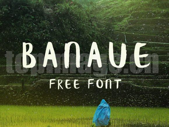 Banaue手写体艺术风格英文字体下载