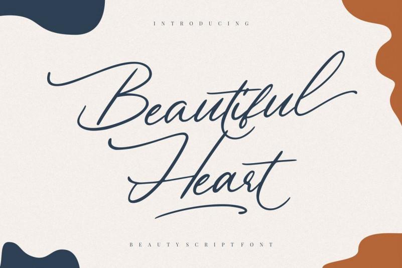 Beautiful Heart花体连笔时尚好看的英文字体下载