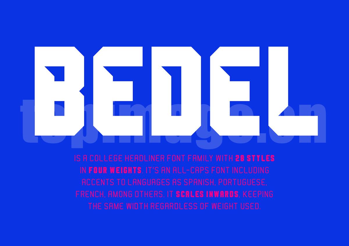 Bedel个性化简约时尚艺术英文字体下载