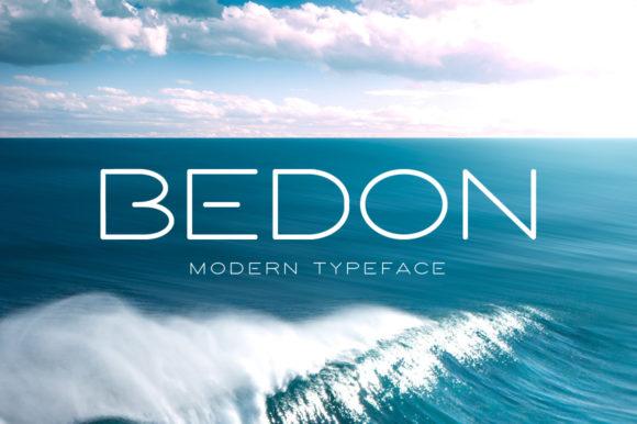 bedon精致无衬线现代logo英文字体下载