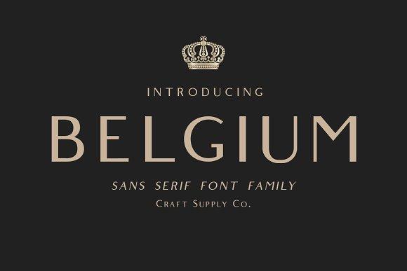 belgium简约时尚logo英文字体下载