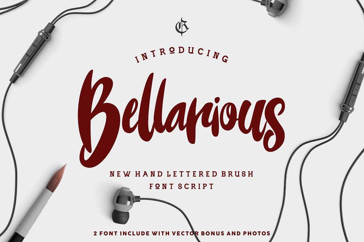 bellarious时尚杂志产品包装手写连笔英文字体下载