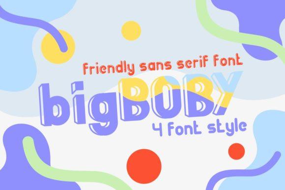 big boby卡通可爱手写英文字体下载