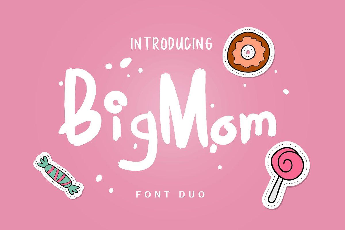 bigmom手写卡通可爱英文字体下载