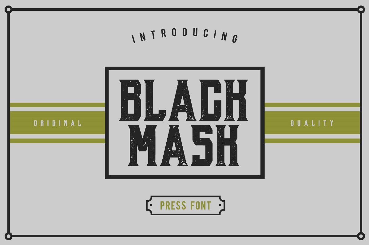 BLACK-MASK复古个性化简约质感艺术英文字体下载