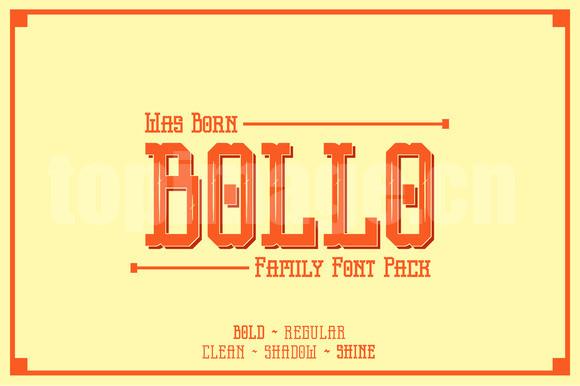 bollo复古英文衬线字体素材下载