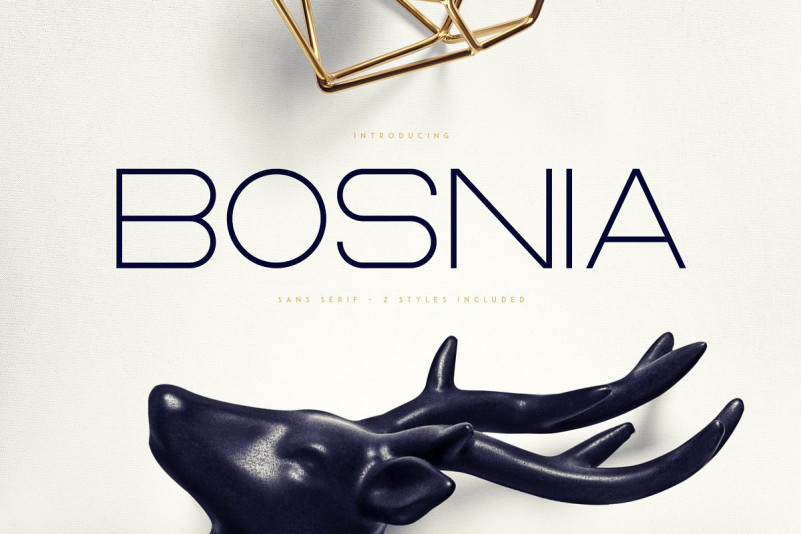 bosnia现代无衬线简洁logo英文字体下载
