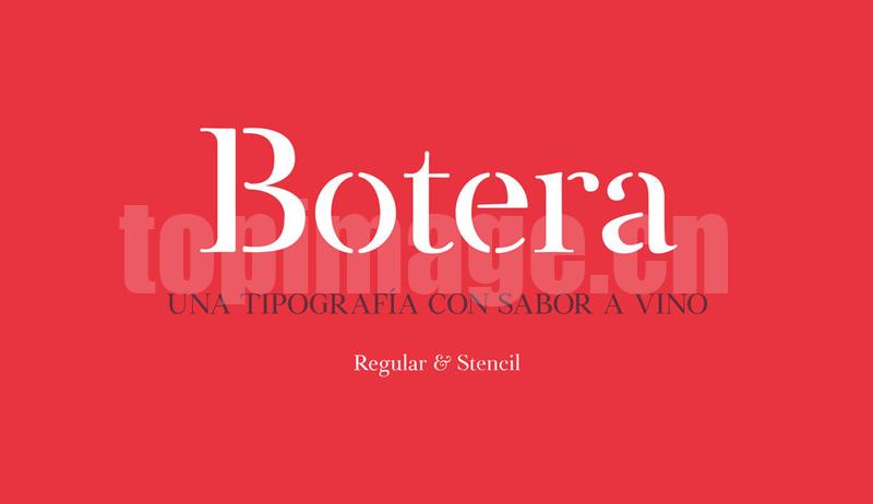 botera复古衬线好看的英文字体下载