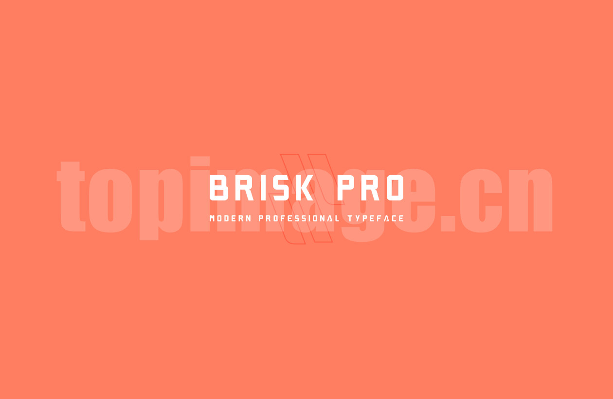 brisk 简洁英文字体适合logo下载