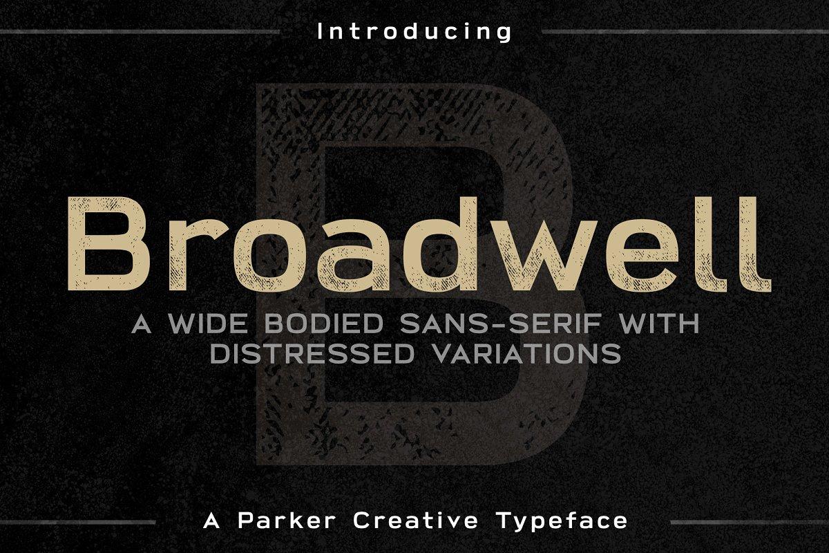 broadwell破旧肌理底纹游戏海报英文字体下载