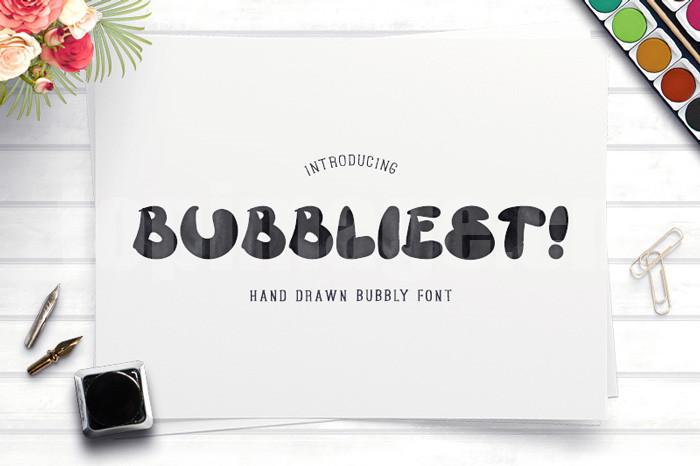 bubbliest简约现代卡通个性化海报好看的英文字体下载