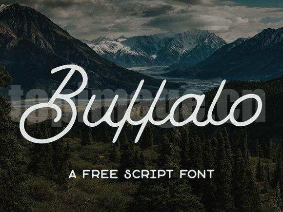 Buffalo手写英文艺术字书法笔刷风格下载