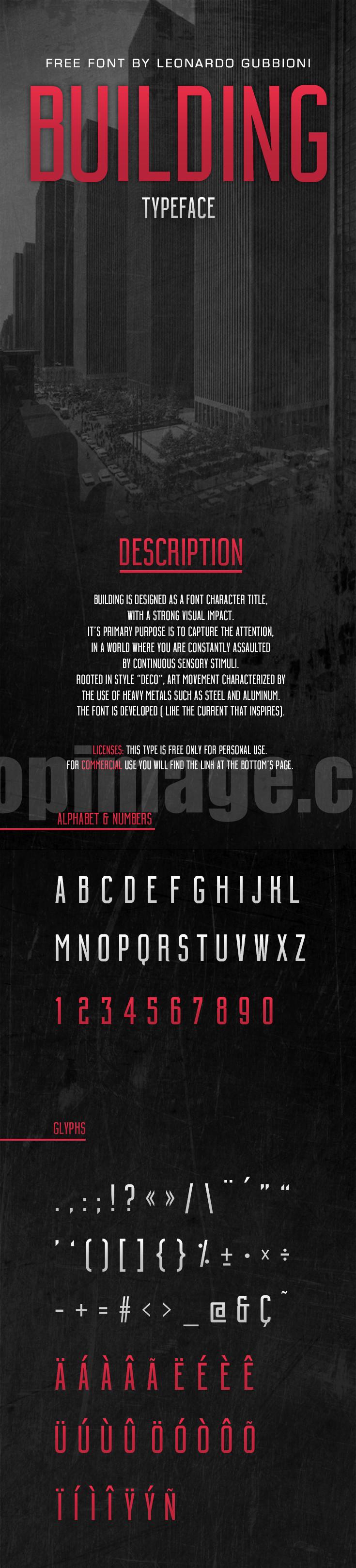 Building适合logo现代简洁海报细长英文字体