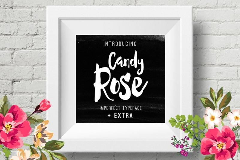 candy rose手写手绘包装英文字体下载